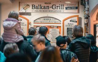 Original Bosna at Balkan Grill in Getreidegasse
