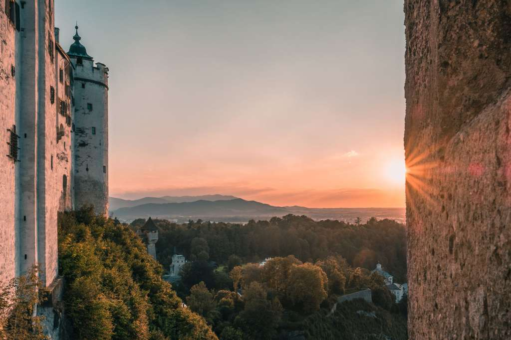 View from the Hohensalzburg Fortress at Sunset