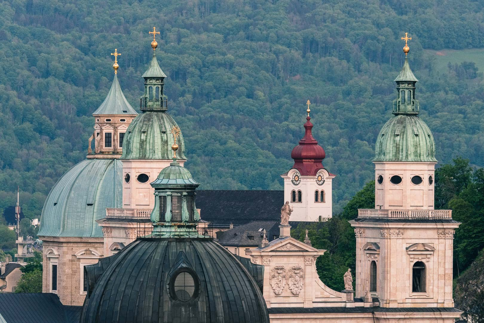 Church towers in Salzburg