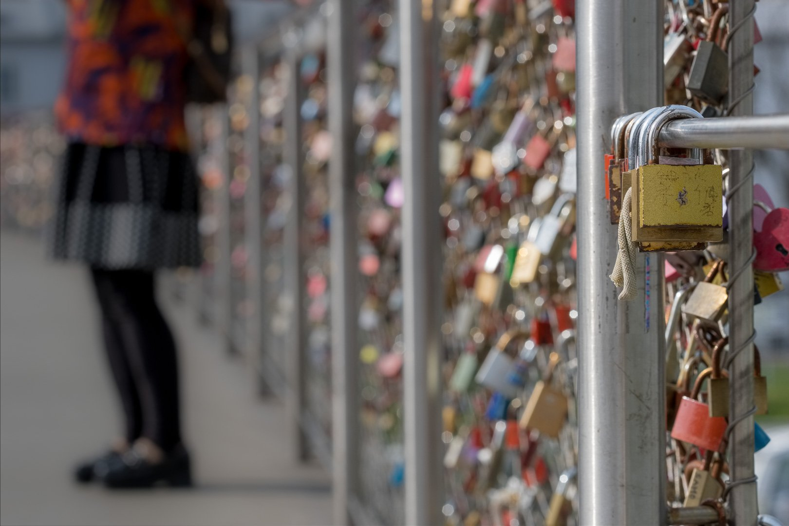 Love locks at makartsteg bridge
