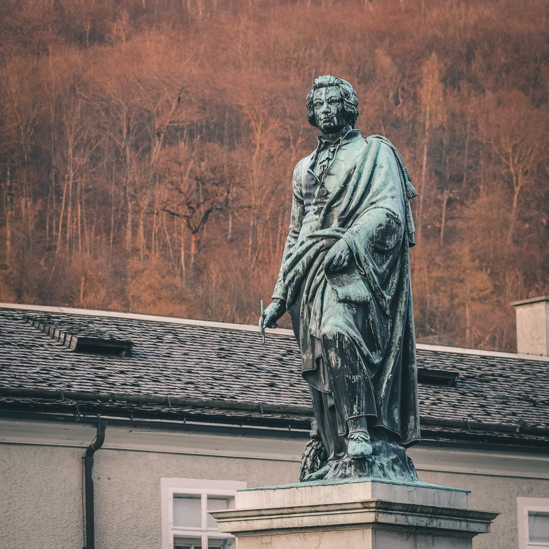 The Mozart Statue in Salzburg
