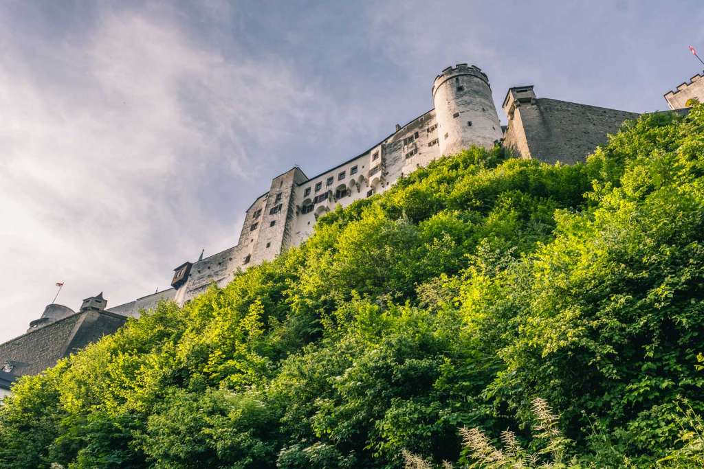 The Fortress Hohensalzburg from below