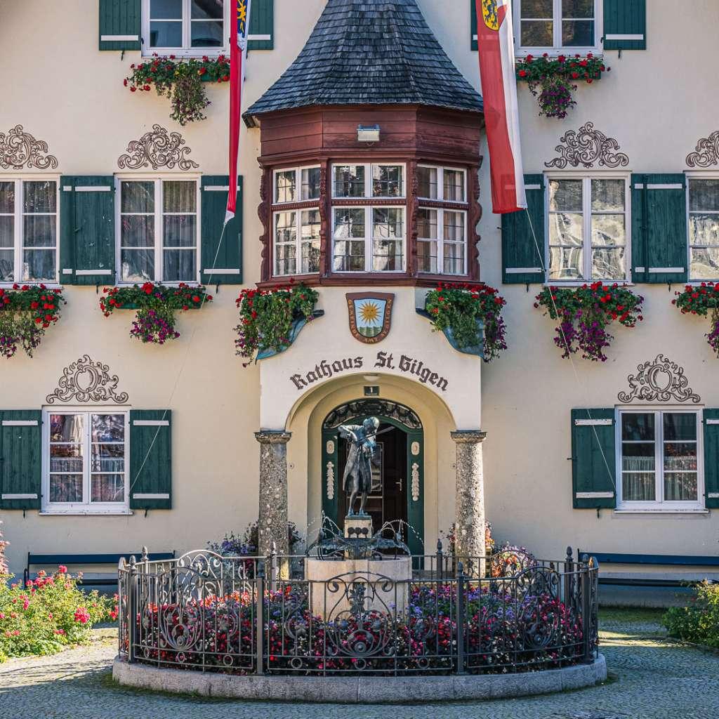 Mozartplatz in Sankt Gilgen