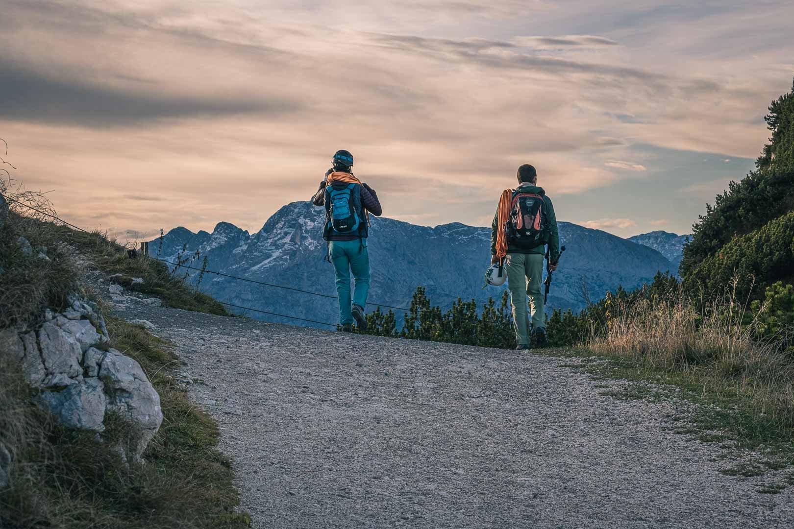 Climbers on Untersberg mountain