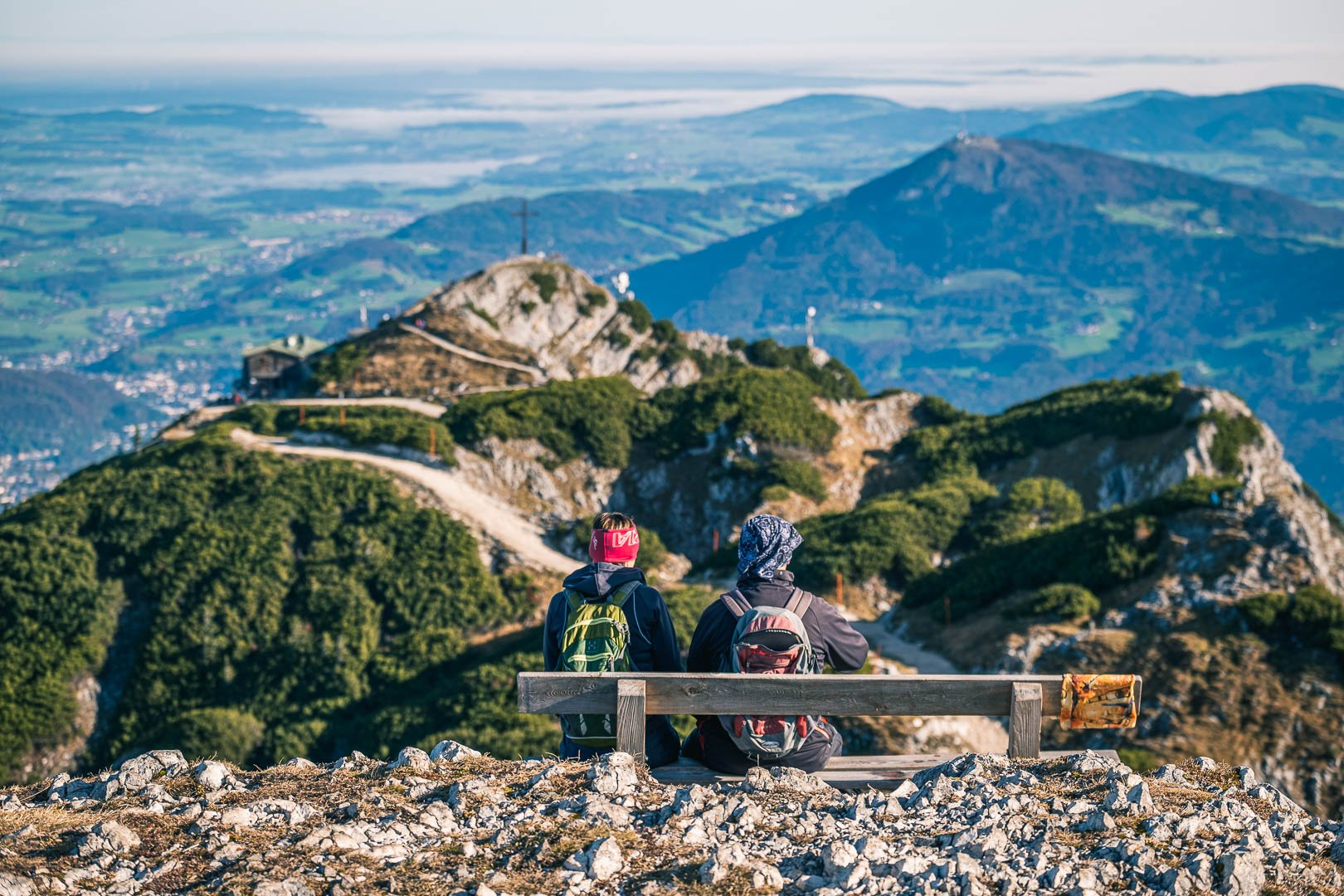 Hikers on Untersberg mountain