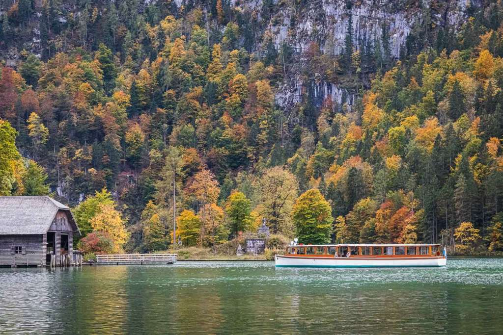 Boat at kings lake in Berchtesgaden