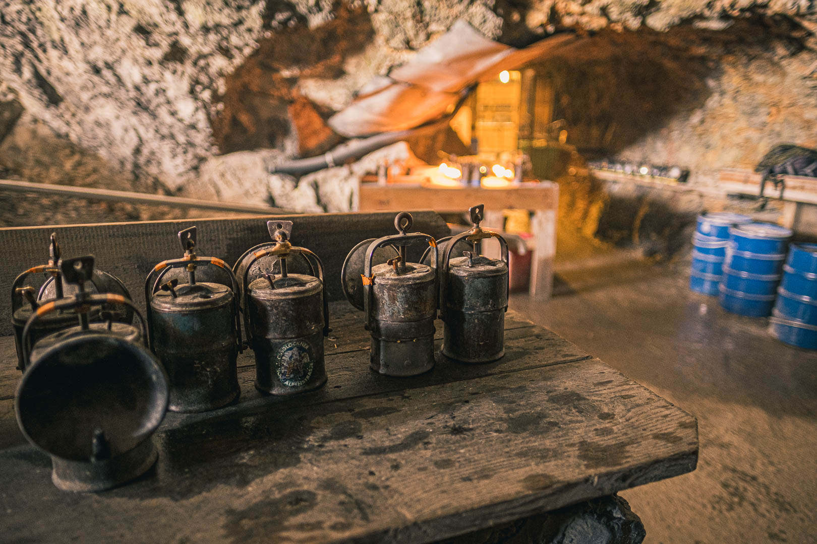 Petroleum Lamps handed out at the Entrance to the Ice Caves