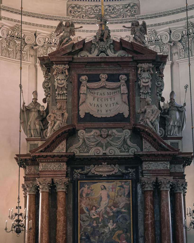 The top of the Main altar in the Salzburg Cathedral