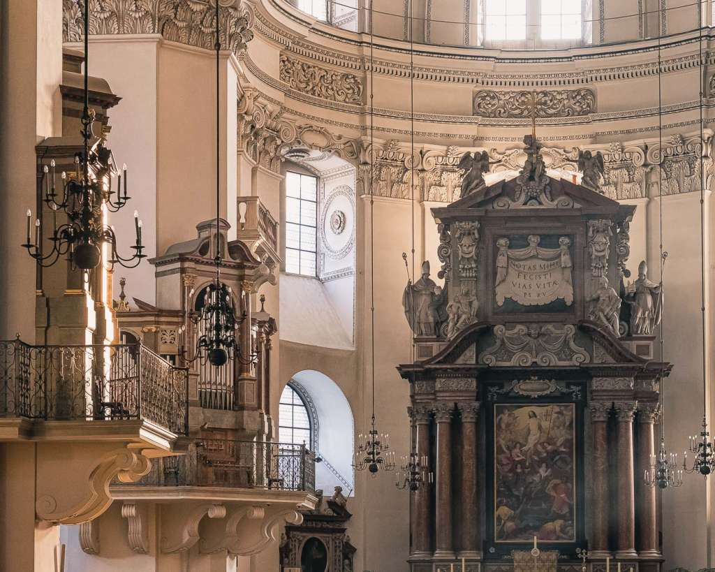 Organs and Altar of the Salzburg Cathedral