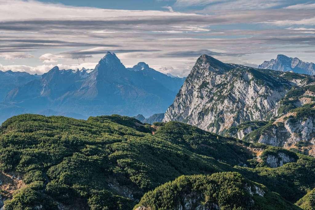 Watzmann vom Gipfel des Untersbergs aus gesehen