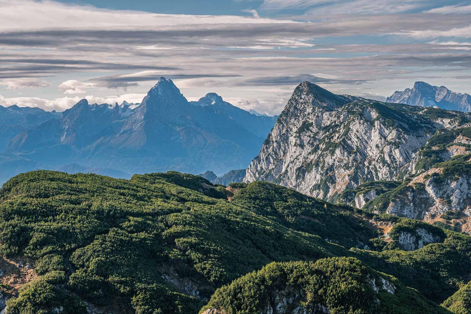 Watzmann seen from the top of Untersberg mountain