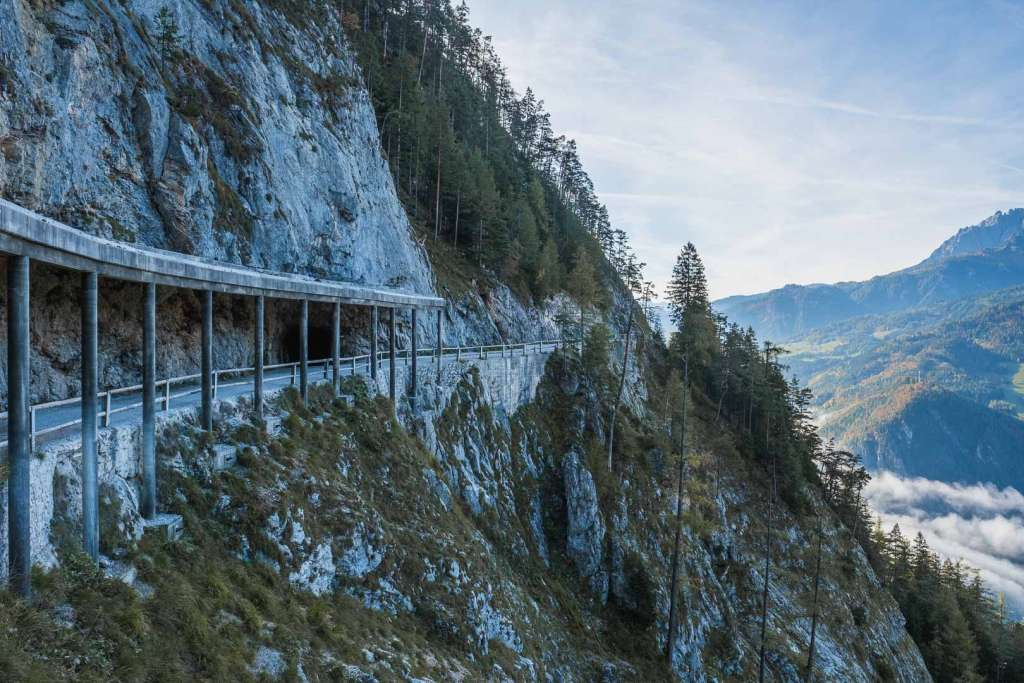 hiking to the werfen ice caves on a trail