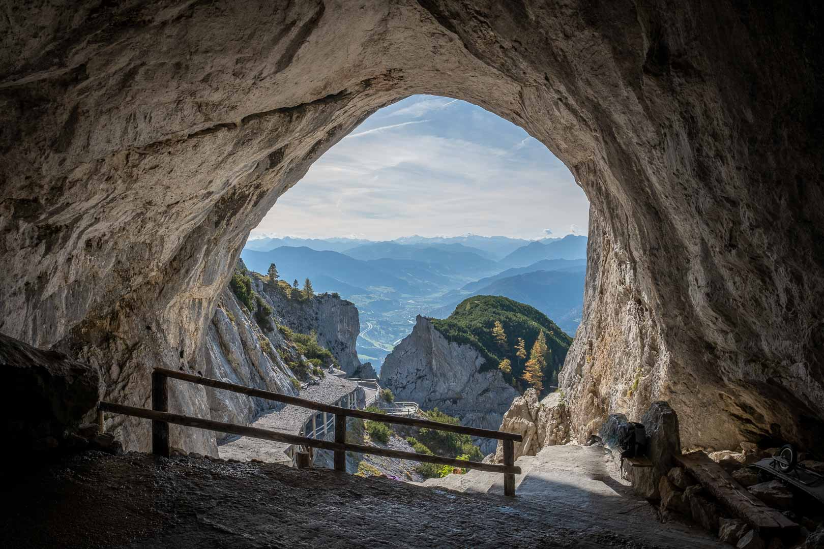 The View from the Entrance to the Werfen Ice Caves
