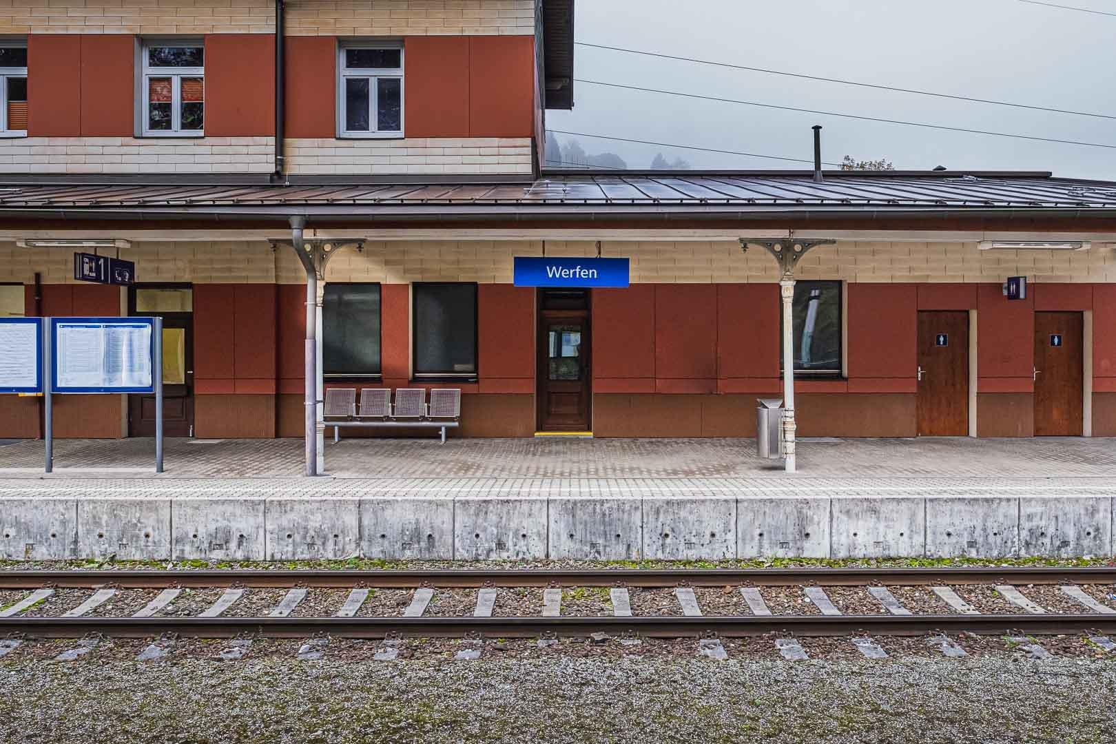 The train station in Werfen