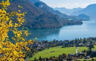 Aussicht vom Mozartblick in Sankt Gilgen