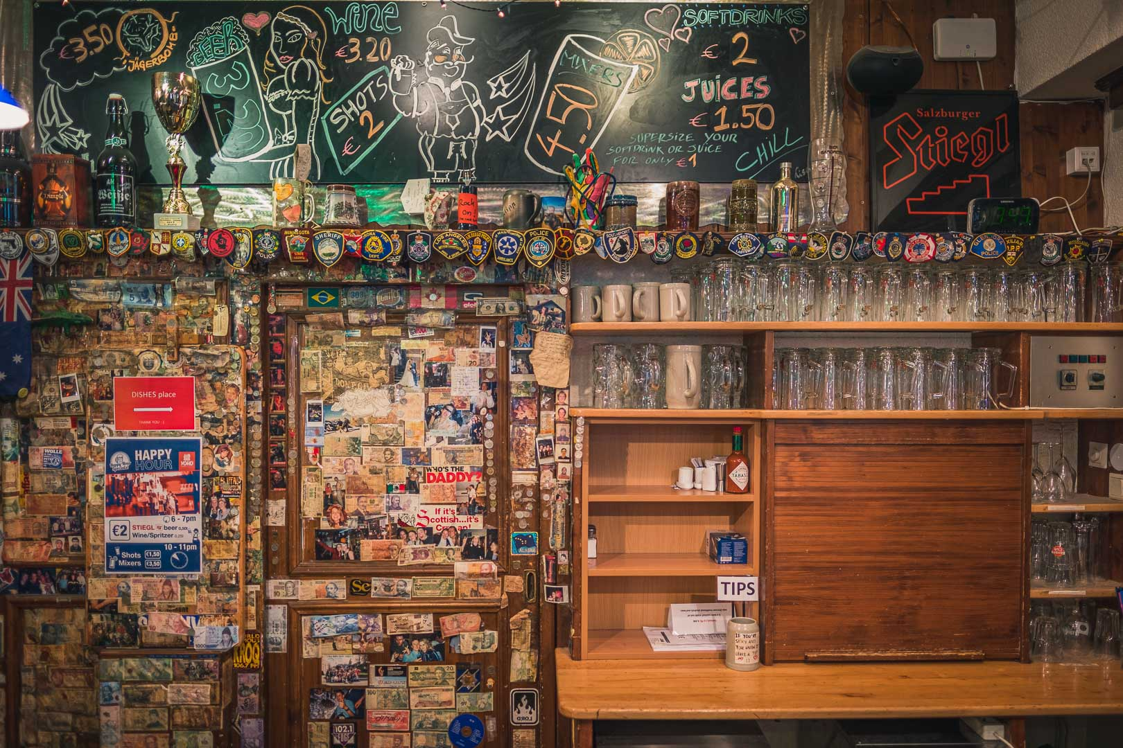 The Yoho Hostel bar when its closed
