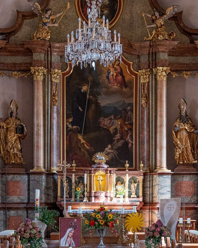 Altar of the Church in St Gilgen