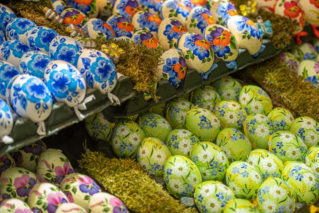 Colourful Easter Eggs in Austria