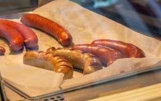 Austrian Street Food Sausages in Salzburg