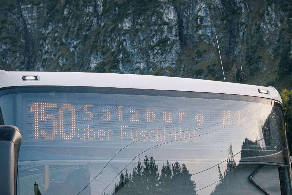 Bus 150 von St Gilgen nach Salzburg