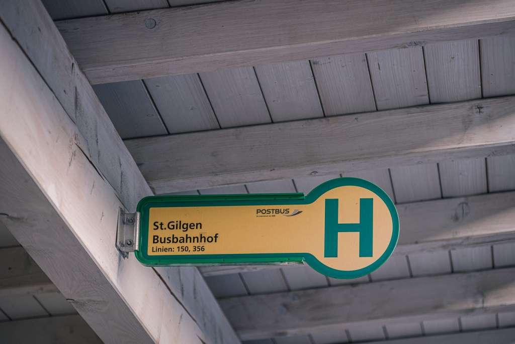 Busbahnhof in Sankt Gilgen am Wolfgangsee