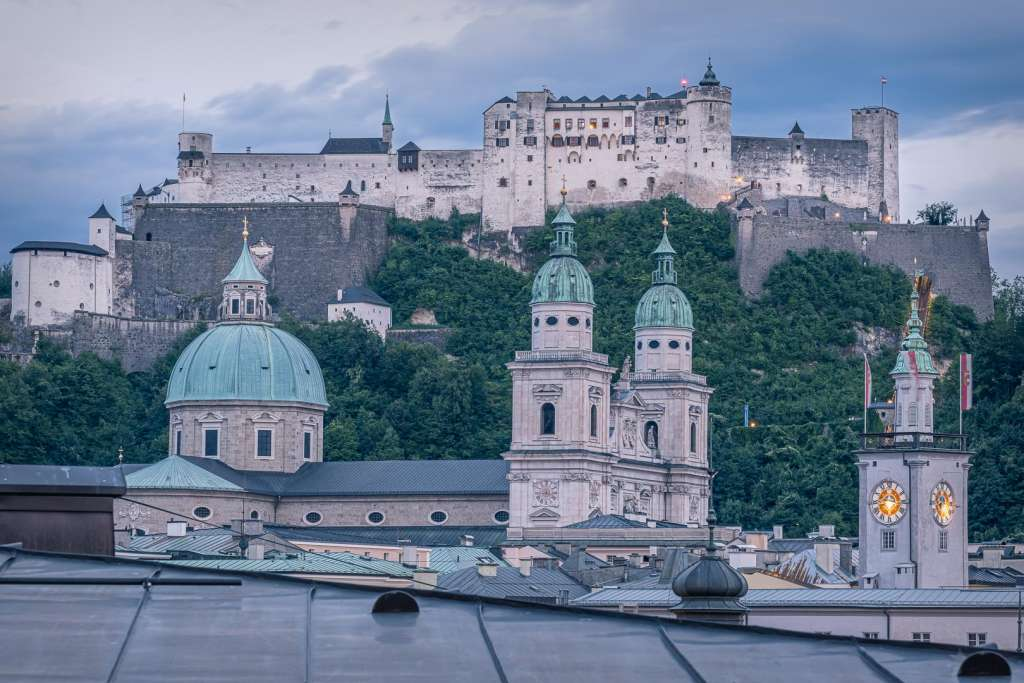 Cityscape of Salzburg with the Fortress