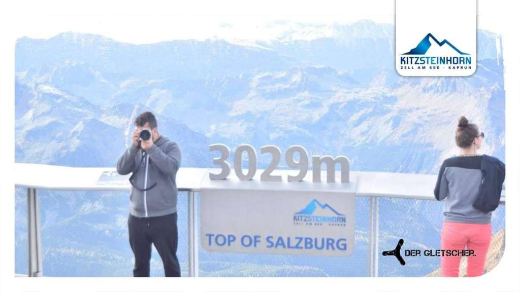 Gerhard Reus taking pictures on the Top of Salzburg