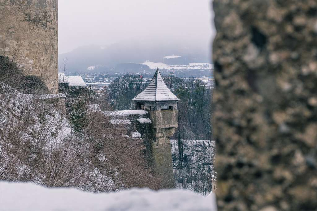 Hohensalzburg Fortress in Winter