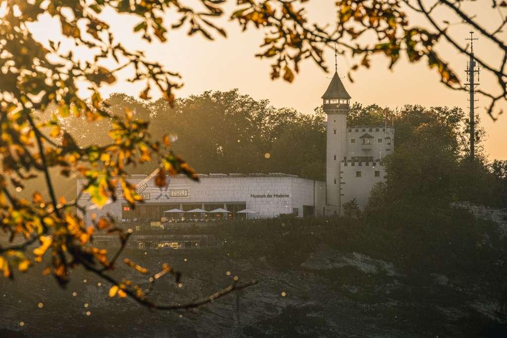 Museum der Moderne Salzburg vom Kapuzinerberg aus