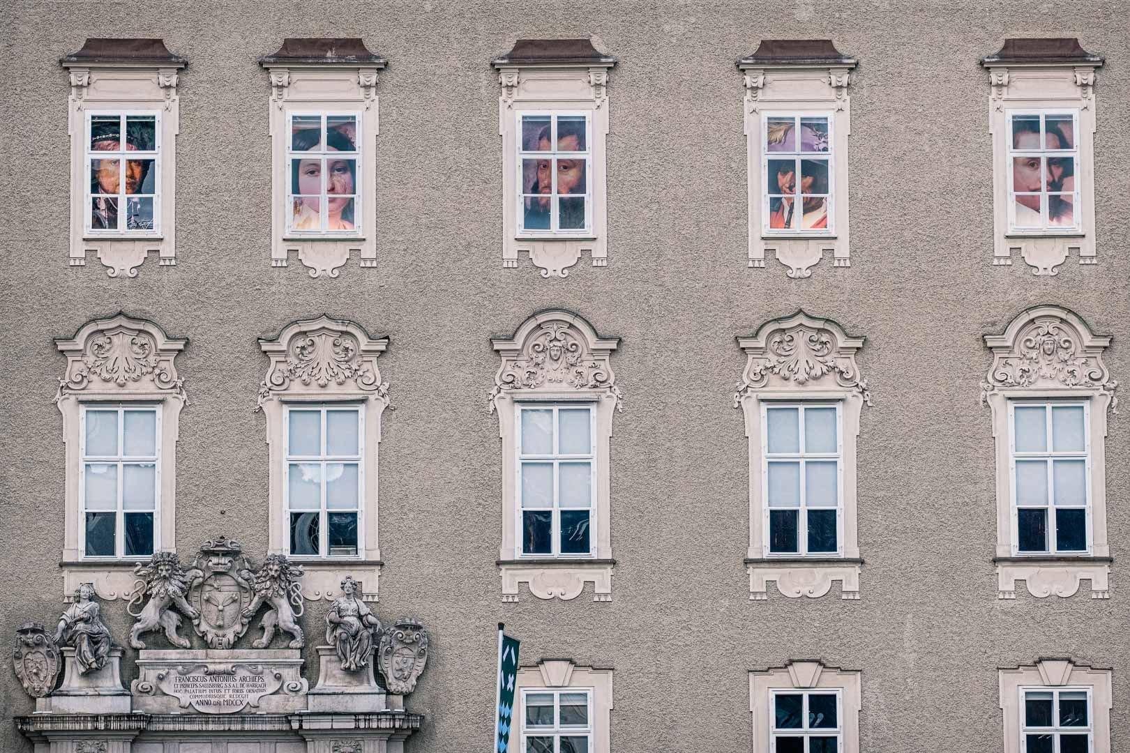 Die alte erzbischöfliche Residenz in Salzburg