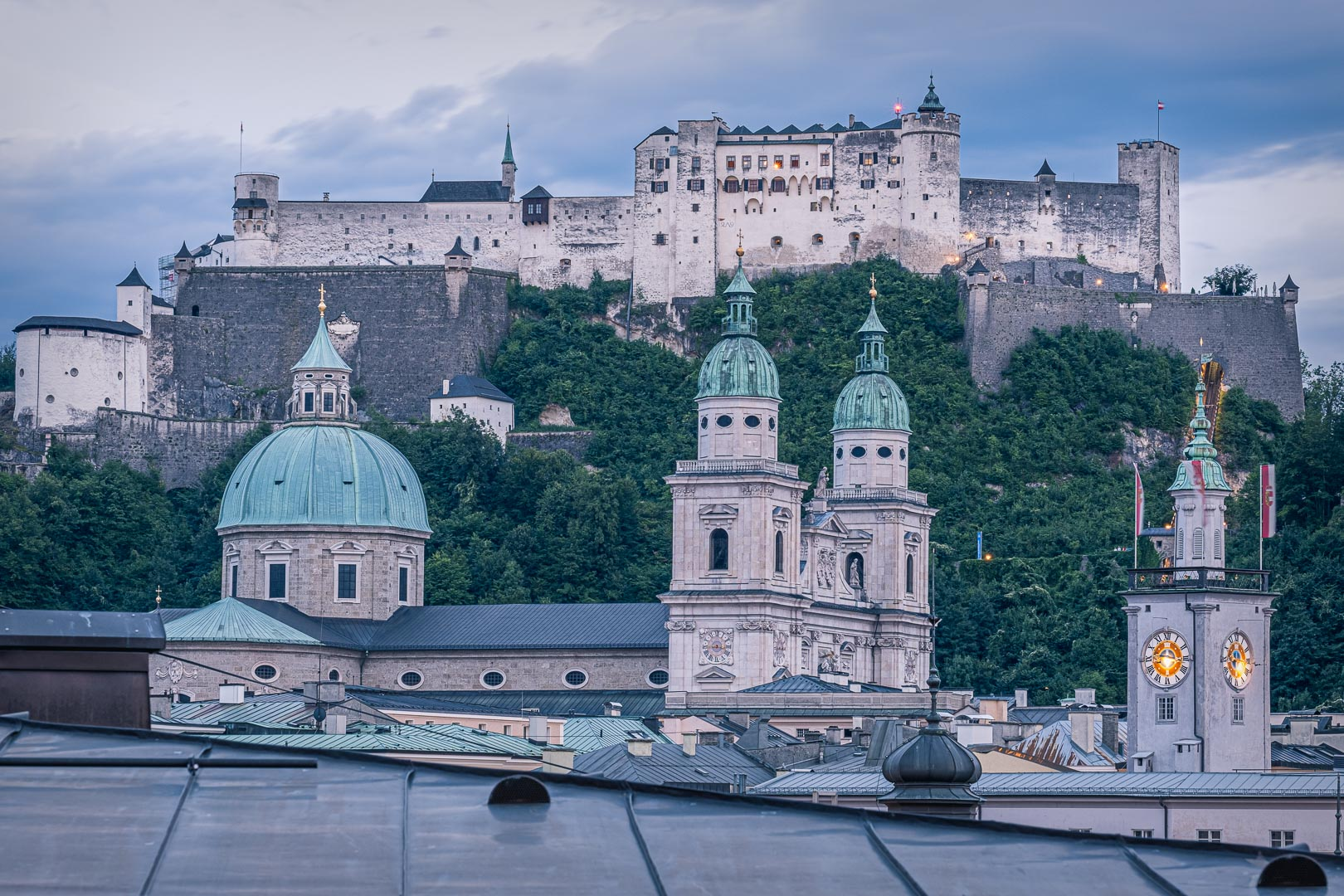The Fortress of Salzburg above the Salzburg Old Town