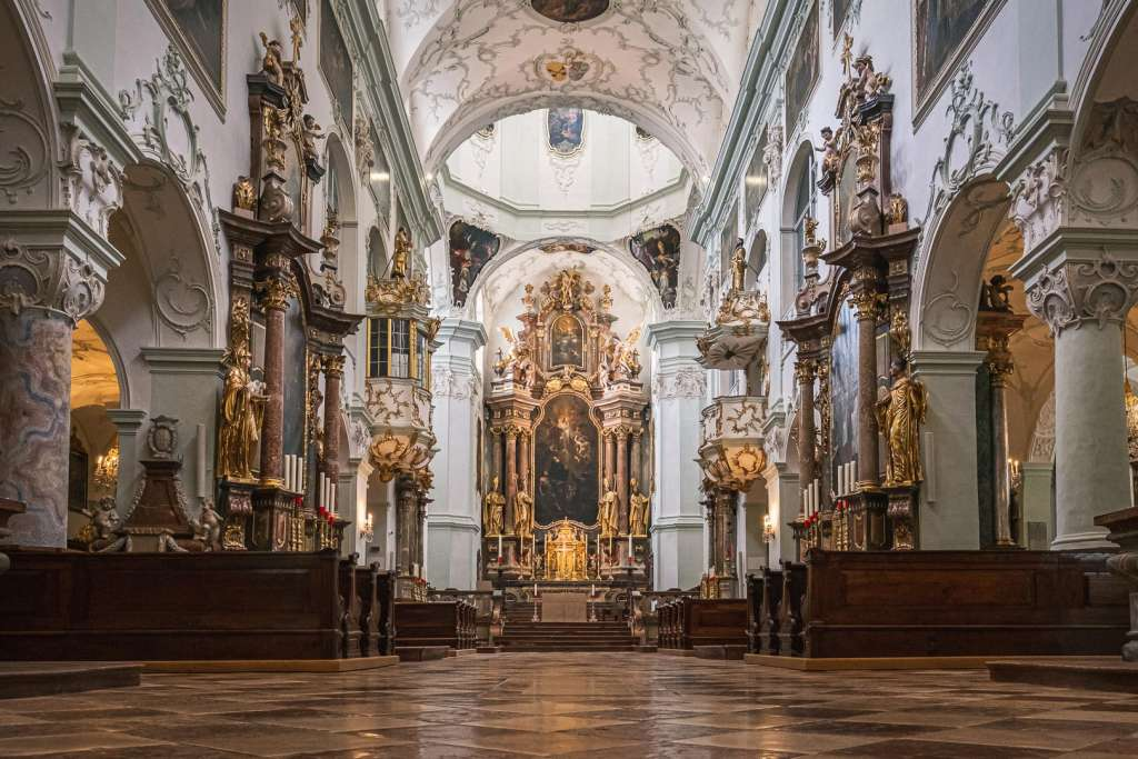 Interior of the Church of Saint Peter in Salzburg