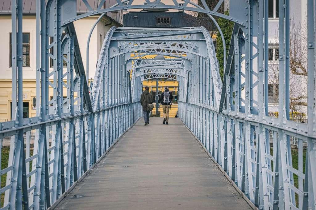 Mozartsteg Footbridge over the Salzach River