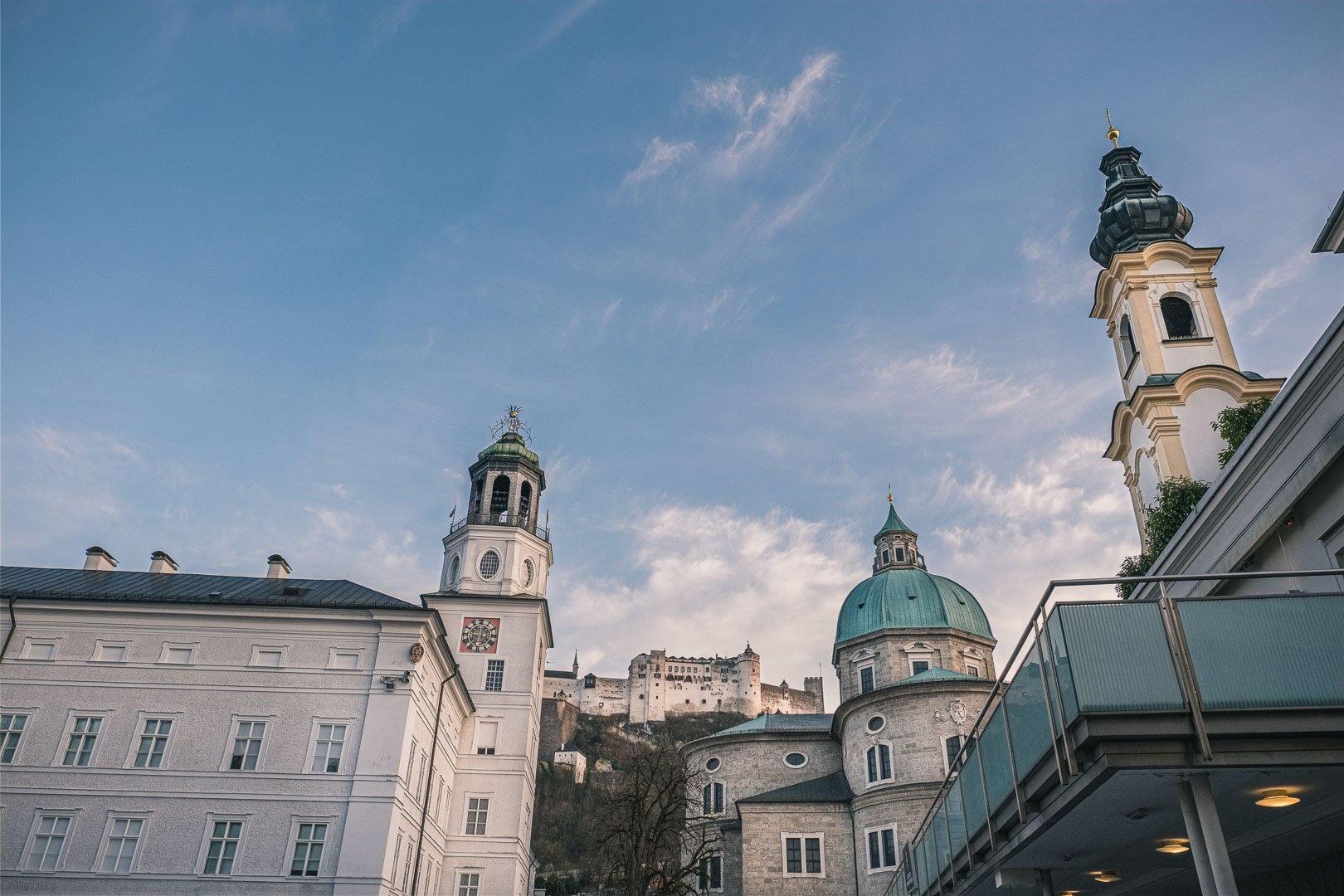 Michaelskirche, Salzburger Dom, Festung und Neue Residenz