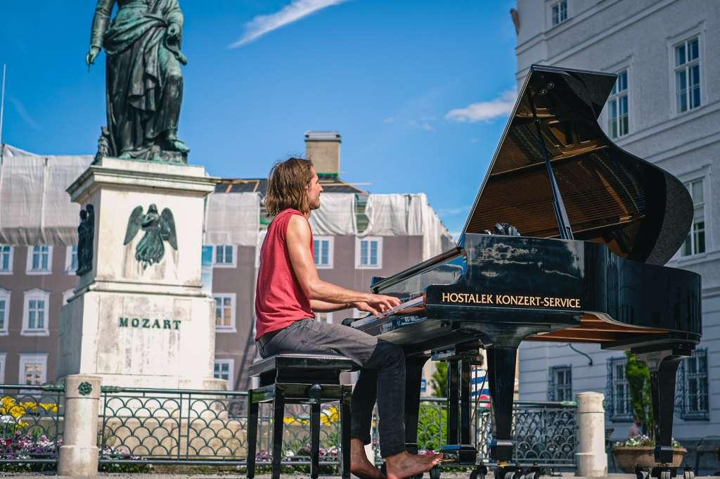 Open Piano at Mozartsquare in Salzburg