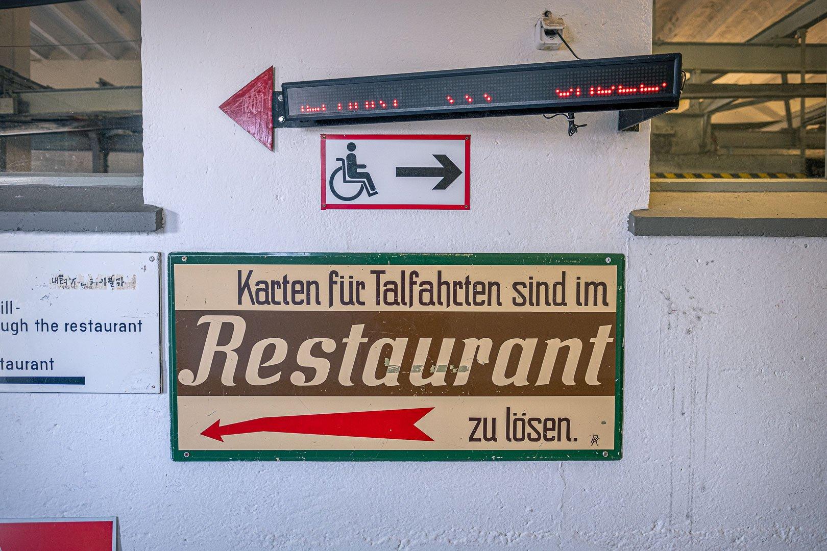 Restaurant auf der Spitze des Zwölferhorns in St. Gilgen