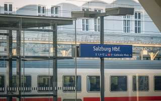 Der Hauptbahnhof in Salzburg