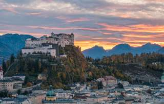 The Hohensalzburg Fotress at Sunset