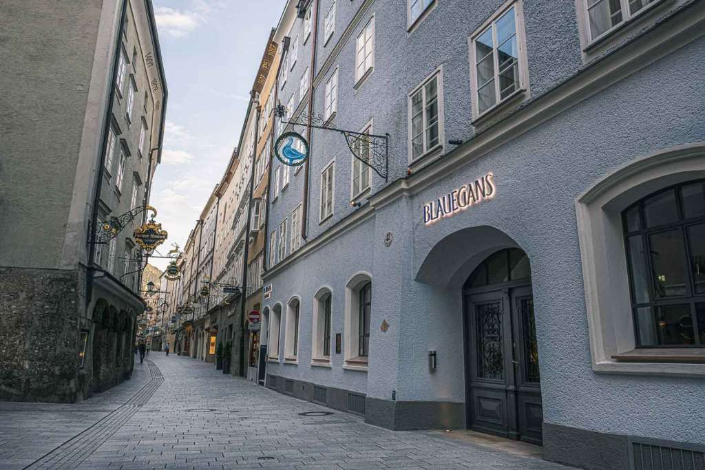 Blaue Gans Boutique Hotel in Getreidegasse