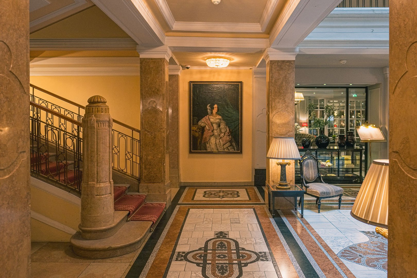 Lobby of the Hotel Sacher Salzburg