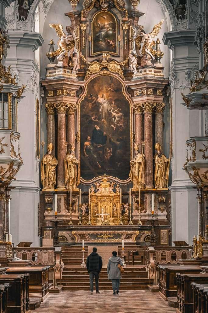 Interior of Saint Peters Church in Salzburg