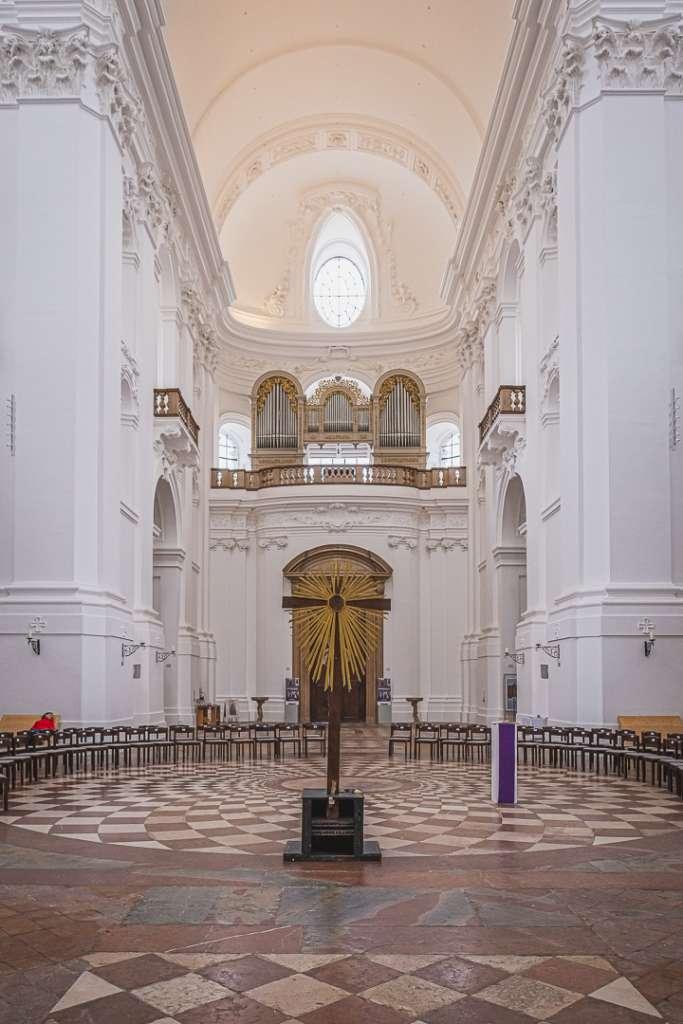 Interior of the University Church in Salzburg