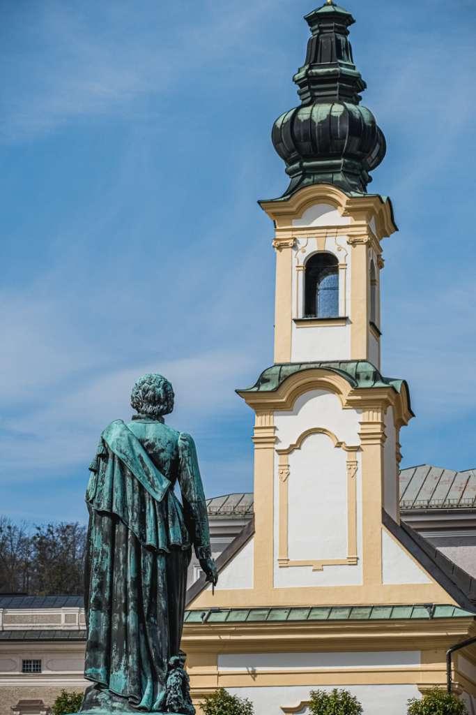 Saint Michaels Church at Mozart Square
