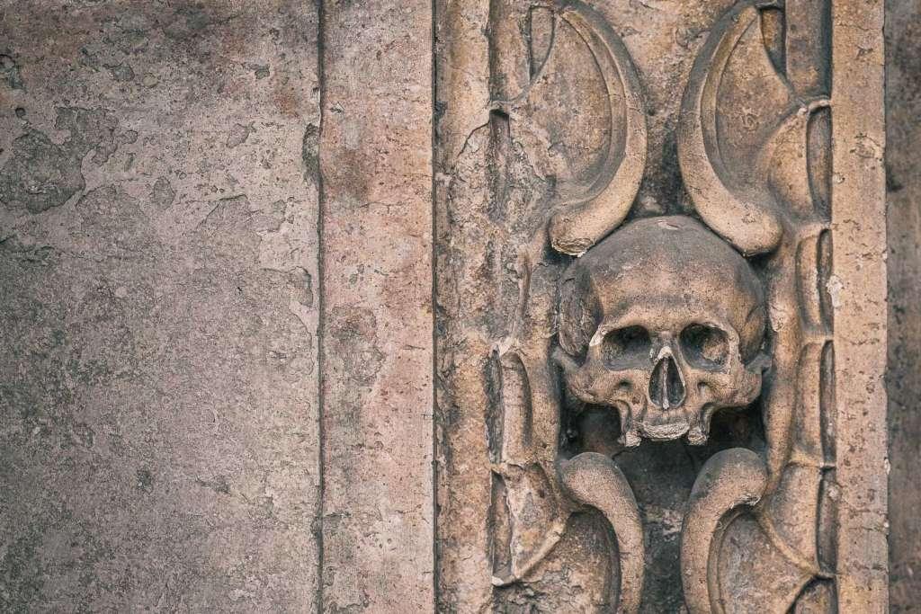 Memento Mori Baroque Symbol at Saint Sebastians Cemetery