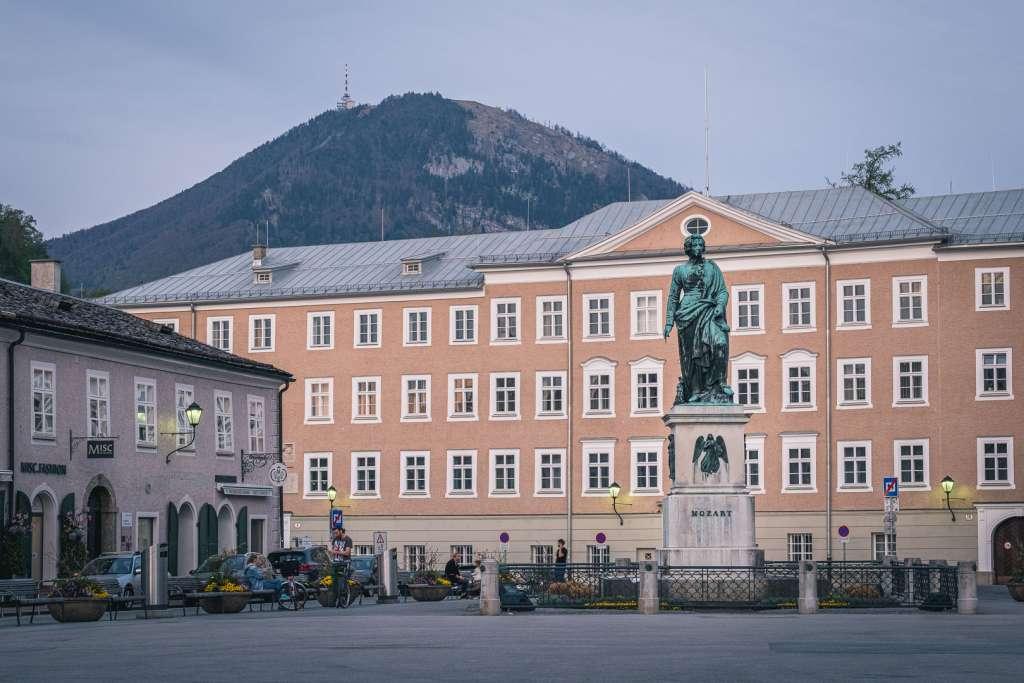 Mozart Square in Salzburg