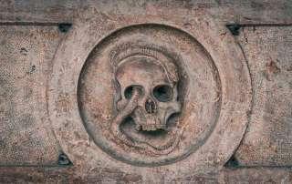 Vanitas Symbol at Sebastiansfriedhof Cemetery