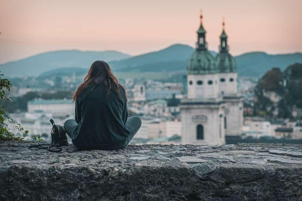 Enjoying the View from Mönchsberg in Salzburg