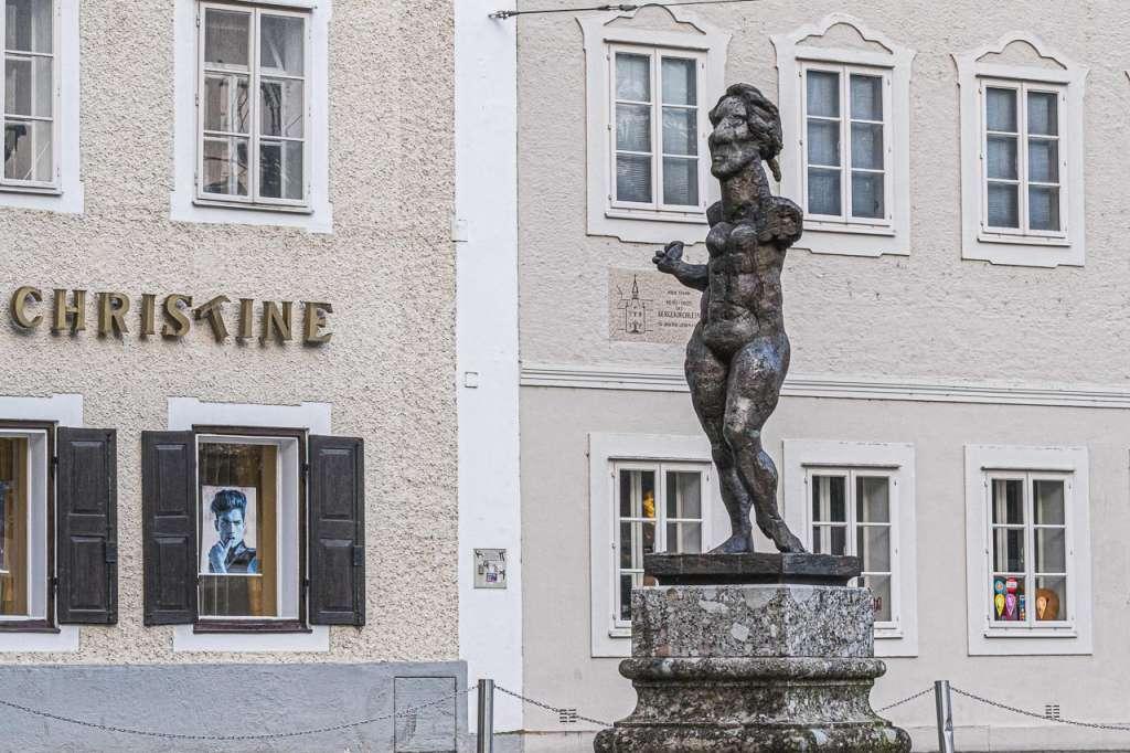 Modern Art Mozart Monument Salzburg