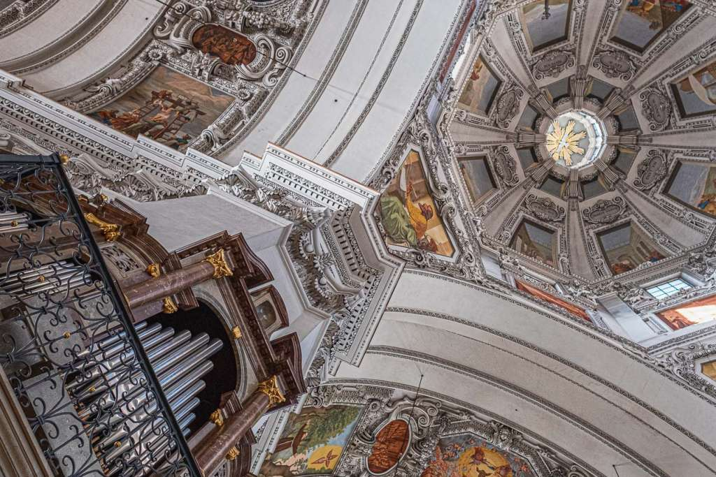 Salzburg Cathedral Organ and Ceiling Paintings