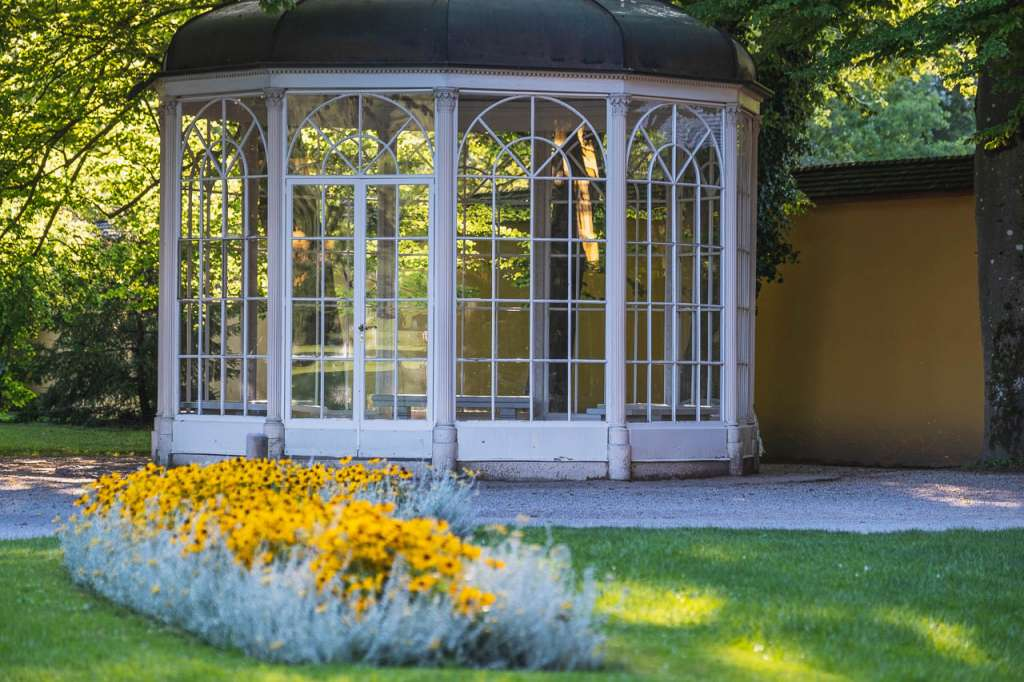 Sound of Music Gazebo in Hellbrunn near Salzburg